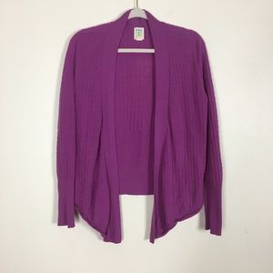 Title Nine 100% Washable Wool Purple Cardigan